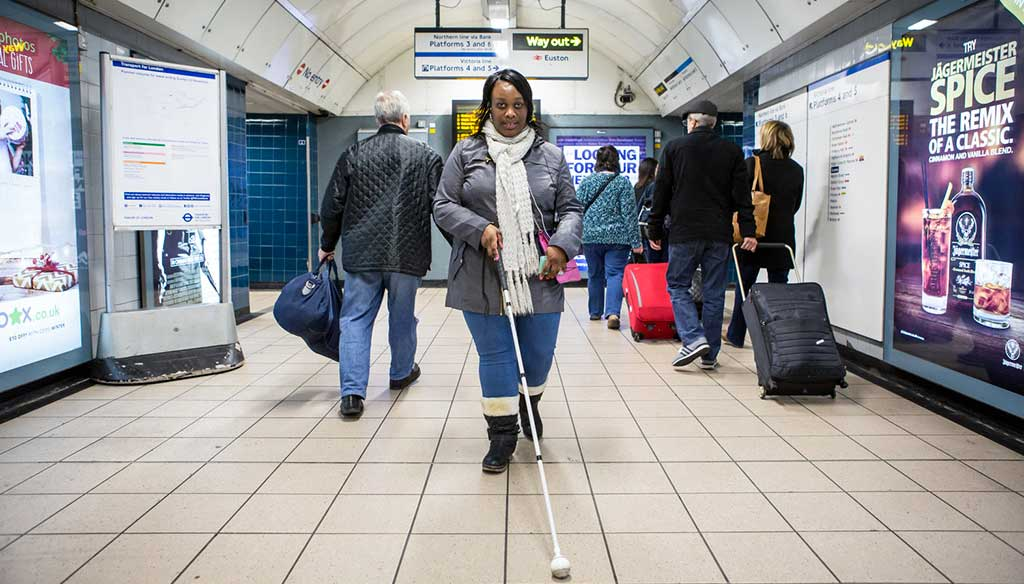 Aveugle Metro de Londre