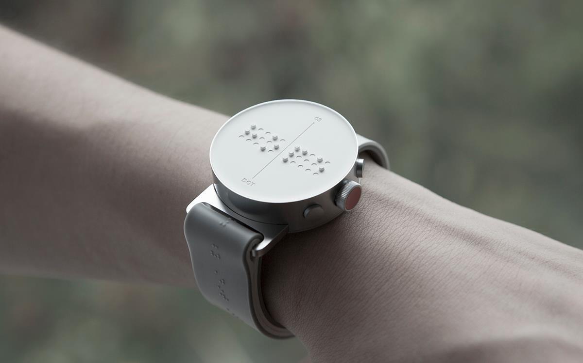 Dot montre connectée en Braille - olga phone